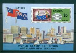 Samoa 1990 World Stamp Exhibition, NZ MS MUH Lot54679 - Samoa