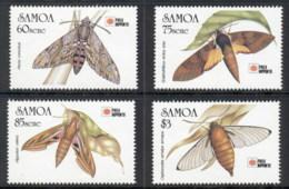 Samoa 1991 Insects Moths Phila Nippon MUH - Samoa