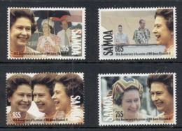 Samoa 1992 QEII Accession To Throne 40th Anniv. MUH - Samoa