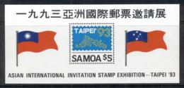 Samoa 1993 Taipei '93 Stamp Ex MS MUH - Samoa