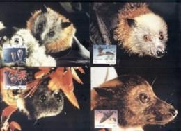 Samoa 1993 WWF Fruit Bats Maxicards - Samoa