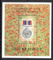 Samoa 1995 End Of WWII 50th Anniv, Medal MS MUH - Samoa