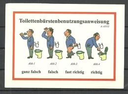 Deutschland Postkarte Toilettenbürstenbenutzungsanweisung Humor (gesendet 1999, Mit Briefmarke) - Humour