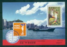 Samoa 1997 Hong Kong 97 Fruit Dove MS MUH Lot54921 - Samoa