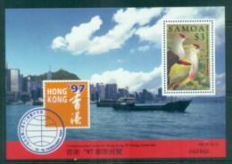 Samoa 1997 Hong Kong '97. Bird MS MUH - Samoa