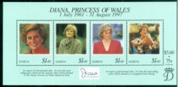 Samoa 1998 Princess Diana In Memoriam, Honouring The Loss Of A Princess MS MUH - Samoa