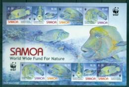Samoa 2006 WWF Humphead Wrasse MS MUH Lot76287 - Samoa
