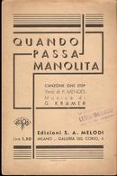 SPARTITO - QUANDO PASSA MANOLITA - Spartiti