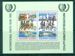 Solomon Is 1985 Intl. Youth Year MS MUH - Solomon Islands (1978-...)