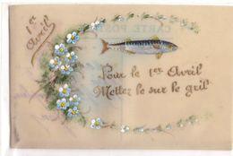 Carte Celluloid : Pour Le 1er Avril Mettez Le Sur Le Gril - Fancy Cards