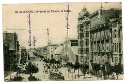 Tarjeta Postal Alicante -avenida De Alfonso El Sabio. - Alicante