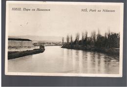 SERBIA Niš Park Sa Nišavom Ca 1920 OLD POSTCARD 2 Scans - Serbie