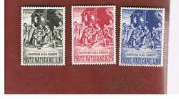 VATICANO (VATICAN) -  UNIF. 264.266  -  1959 NATALE (SERIE COMPLETA DI 3)   -  MINT** - Nuovi