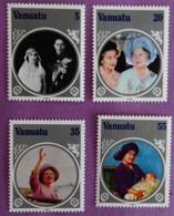 "VANATU ANNEE 1985 ""85 EME ANNIVERSAIRE DE LA REINE"" SERIE COMPLETE - Vanuatu (1980-...)"