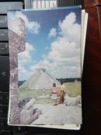 19204) PAN AMERICAN WORLD AIRWAYS MESSICO PIRAMIDES DE CHICHET ITZA, YUCATAN NON VIAGGIATA - Messico