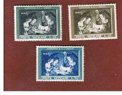 VATICANO (VATICAN) -  UNIF. 292.294  -  1960 NATALE (SERIE COMPLETA DI 3)   -  MINT** - Vaticano (Ciudad Del)