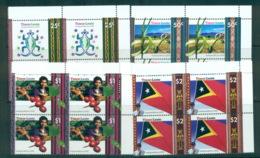 Timor-Leste 2002 Independence Cnr Blks 4 MUH Lot70831 - Stamps