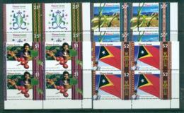 Timor-Leste 2002 Independence Cnr Blks 4 MUH Lot70832 - Stamps