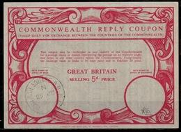 GREAT BRITAIN Type XIIIc  5d.  Commonwealth Reply Coupon Reponse IRC Antwortschein O PORTMAN SQUARE 25.06.65 - Frankreich (alte Kolonien Und Herrschaften)