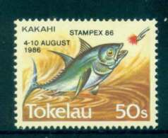 Tokelau Is 1986 Fish Stampex Opt MUH Lot52090 - Solomon Islands (1978-...)