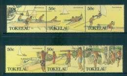 Tokelau Is 1988 Gathering Food 2x Str 3 MUH Lot52099 - Solomon Islands (1978-...)