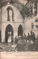 80 ECLUSIER VAUX INTERIEUR DE L'EGLISE APRES LE DELUGE DE MITRAILLES PAS CIRCULEE - Guerra 1914-18
