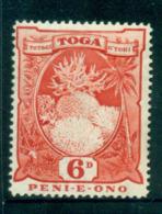 Tonga 1897-34 6d Coral Formations MLH Lot55428 - Tonga (1970-...)