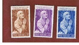 VATICANO (VATICAN) - UNIF. 330.332 - 1962  5^ CENTENARIO S. CATERINA DA SIENA (SERIE COMPLETA DI 3)   -  MINT** - Nuovi