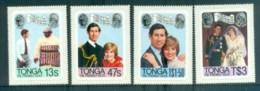 Tonga 1981 Charles & Diana Royal Wedding Pr MUH Lot81921 - Tonga (1970-...)