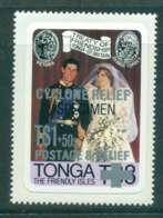 Tonga 1981 Charles & Diana Wedding Opt Cyclone Relief P&S SPECIMEN MUH Lot45261 - Tonga (1970-...)