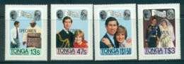 Tonga 1981 Charles & Diana Wedding P&S SPECIMEN MUH Lot45259 - Tonga (1970-...)