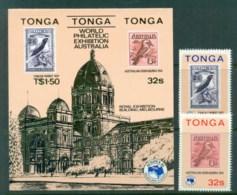 Tonga 1984 AUSIPEX + MS MUH Lot81499 - Tonga (1970-...)