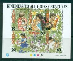 Tonga 1994 Kindness To All God's Creatures MS MUH - Tonga (1970-...)