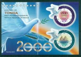 Tonga 2000 Millenium Peace Dove, Bird MS MUH - Tonga (1970-...)