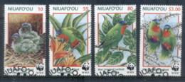 Tonga Niuafo'ou 1998 WWF Birds, Blue Crowned Lorikeet FU - Tonga (1970-...)