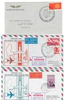 AEREOLINEA ITAVIA PRIMO VOLO FORLI MONACO 04 05 1970 3 Buste Diverse COD Bu.226 - 6. 1946-.. Repubblica