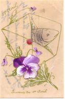 Carte Celluloid : Souvenir Du 1er Avril - Fancy Cards