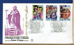 VATICANO - FDC  1985 - FDC FILAGRANO  -  SAN BENEDETTO - SAN CIRILLO - SAN  METODIO - FDC
