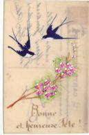Carte Celluloid : Bonne Et Heureuse Fête - Fancy Cards