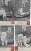 Noël De Pierrot (4 Cartes) - Couples