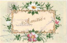 Carte Celluloid : Amitiés - Fancy Cards