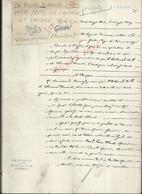 LA ROCHE BLANCHE 1922 ACTE DE LIQUIDATION & PARTAGE 50 PAGE : - Manuscrits