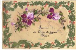 Carte Celluloid : Souvenir De Bonne Et Joyeuse Fête - Fancy Cards