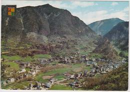 Andorre  Valls D'andorra Vue General D'andorra  Et  Les Escaldes - Andorra