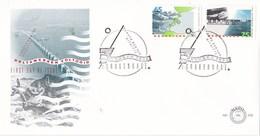 Nederland - FDC - Deltawerken - Stormvloedkering/fotografische Weergave Stormvloekering - NVPH E239 - Aardrijkskunde
