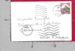 BUSTA VG ITALIA - ORDINARIA - Castelli £ 800 - 9 X 14 - ANN. 1998 PADOVA - CHIOGGIA - 6. 1946-.. República
