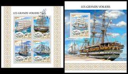DJIBOUTI 2017 - Tall Ships - YT 1628-31 + BF215; CV=40 € - Ships