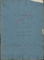 LAGNY SUR MARNE ACTE DE PARTAGE DE 1821 FAMILLE BERNIER 8 PAGES : - Manuscrits