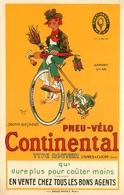 """"""" Pneu Vélo CONTINENTAL - Clichy """" - Illustrateur Mich - Cp Publicitaire Pub Publicité - Cycle Cyclisme - AA113 - Publicité"""
