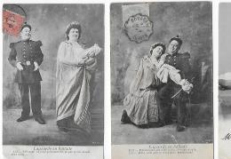 LAGOURDE EN BALLADE  (MILITARIA) (2 CARTES) - Couples